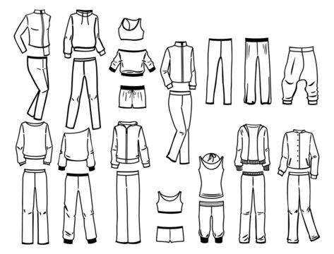 Contours of sportswear