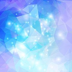 Abstract geometrical background with blue triangles vector