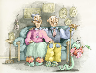 an old couple