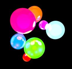 Sfere luminose colorate