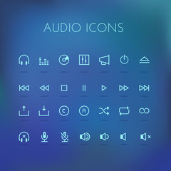 Sound icon set