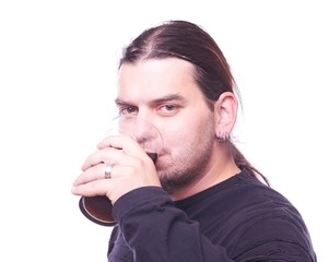 Dude drinking beer