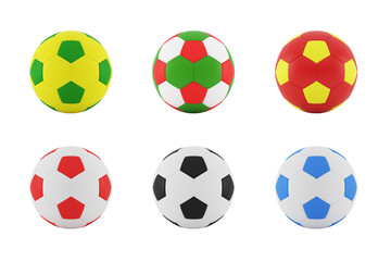 Colorful Football (Color From Flag Color)