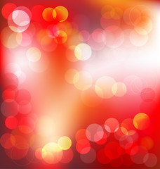 Red elegant abstract background with bokeh lights