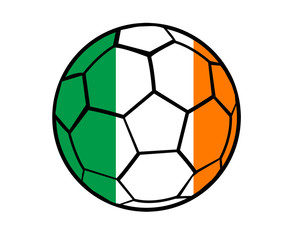 Isolated Clip Art Football With Ireland Flag's Colors