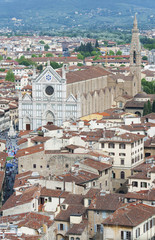 Fototapete - The Basilica of Santa Croce in Florence, Italy.