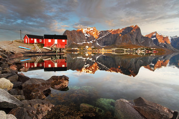Wall Mural - View over Reine village, Norway