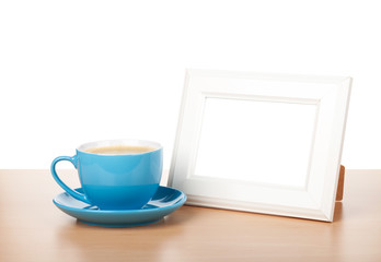 Photo frame and coffee cup
