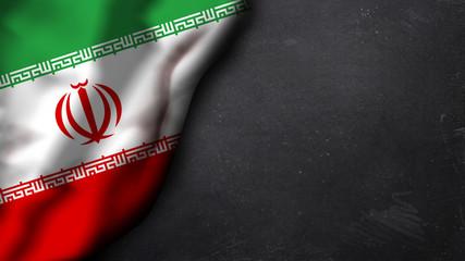 iranische Flagge auf Schiefertafel