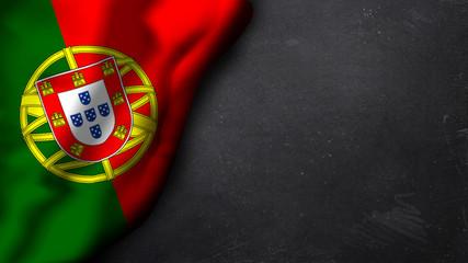 portugiesische Flagge auf Schiefertafel