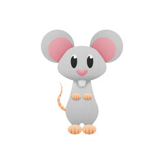 white mouse, rat is cute cartoon illustration from animal of pap