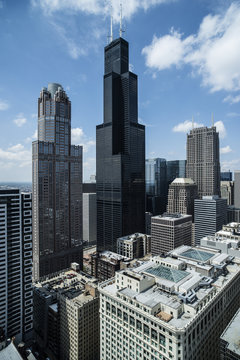 Willis Tower,Chicago,aerial photograph
