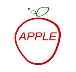 apple fruit graphic design