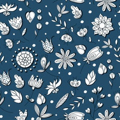 Vector floral seamless pattern illustration.