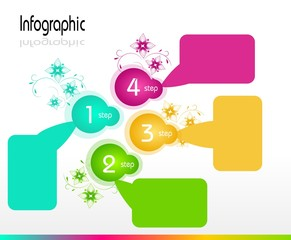 Infographic Template with Four Steps
