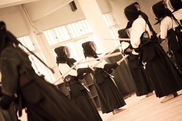 kendo, training at Osaka Shudokan Martial Arts Hall,17May2014