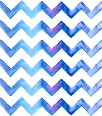 Chevron watercolor blue Background
