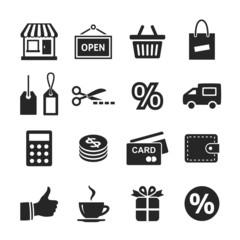 Shopping Icon Set. Simplus series