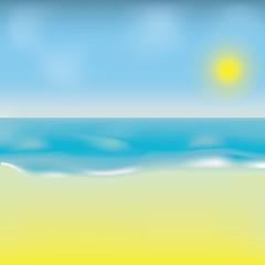 Illustration of the sunny beach. Raster