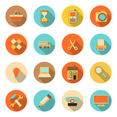 flat style colorful icons