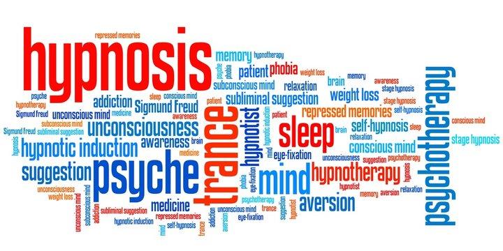 Hypnosis - word cloud illustration