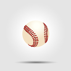Baseball ball isolated on white with shadow