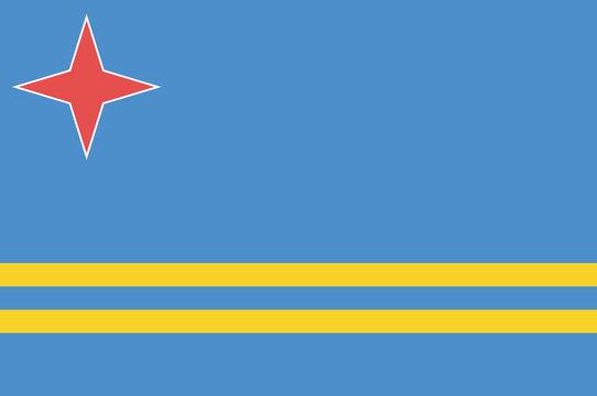 National flag of Aruba