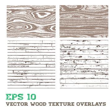 Wood Texture Overlay Design Elements