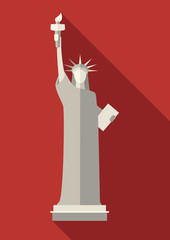 Independence day (statue of Liberty), vector illustration