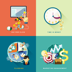 flat design for web and mobile services and apps