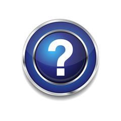Help Circular Vector Blue Web Icon Button