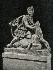 Mithra , Old Persian god of the sun, sacrificing the bull