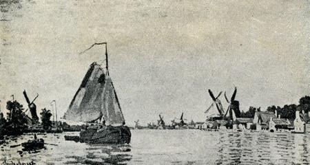 Zaan at Zaandam (Claude Monet, 1871)