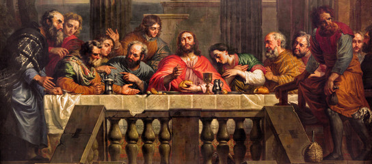 Wall Mural - Mechelen - The Last Supper  in church Our Lady across de Dyle.