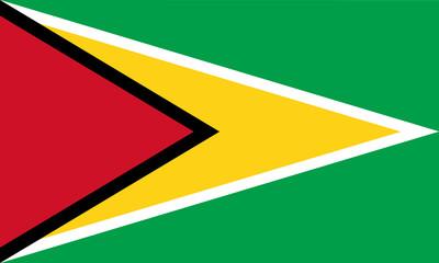 High detailed vector flag of Guyana