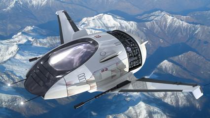 Drone design for surveillance spacecrafts
