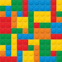 seamless vector. plastic construction blocks.