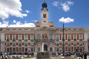Madrid city centre, Puerta del Sol square one of the famous land