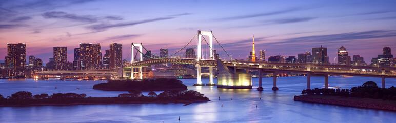 Wall Mural - Rainbow Bridge in Odaiba Tokyo
