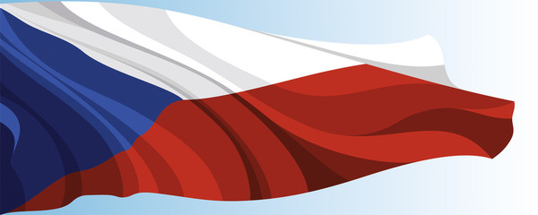 The national flag of the Czech Republic