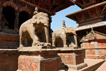 Entrance to the temple in Patan, Nepal