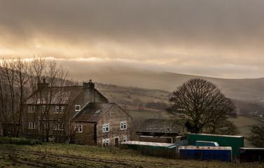 Farmhouse british countryside