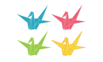 Origami Crane Illustration vector