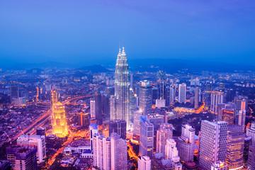 Photo Stands Kuala Lumpur Kuala Lumpur skyline - Malaysia.