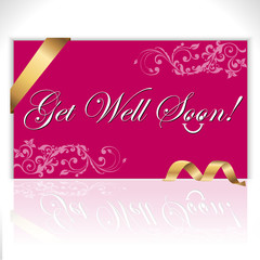 get well soon lettering, note - vector eps10