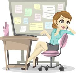Lazy Employee Illustration