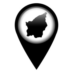 Vector pin with the map in - San Marino