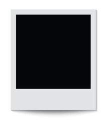 Photo frame isolated on white background. Vector illustration.