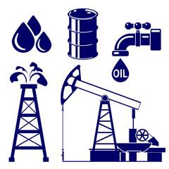Oil industry icon  set symbol vector  illustration