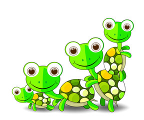 Cute Turtles Family